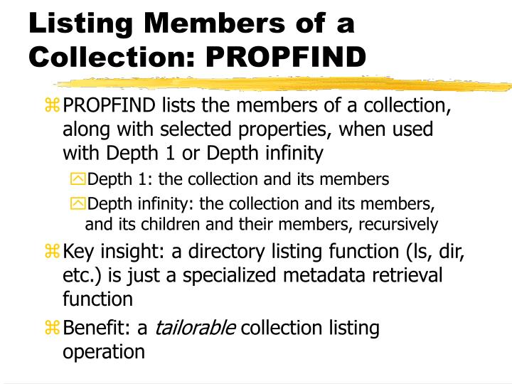Listing Members of a Collection: PROPFIND