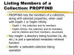 listing members of a collection propfind
