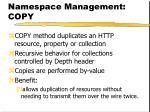 namespace management copy