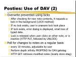 posties use of dav 2