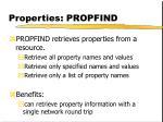 properties propfind