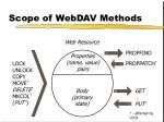 scope of webdav methods