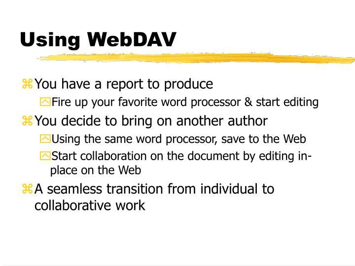 Using WebDAV