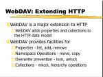 webdav extending http