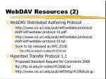 webdav resources 2