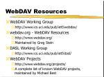 webdav resources