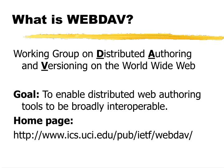 What is WEBDAV?