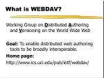 what is webdav