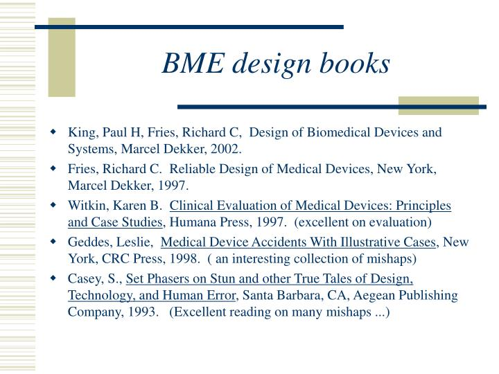BME design books
