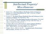 intellectual property miscellaneous