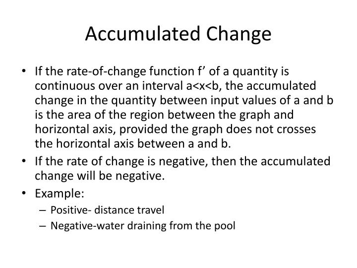 Accumulated Change
