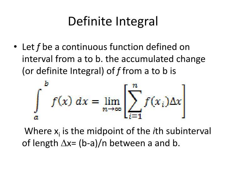 Definite Integral