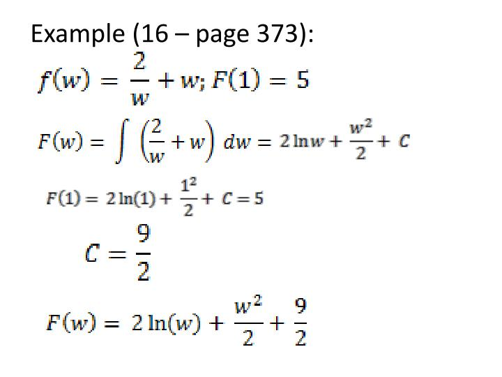 Example (16 – page 373):