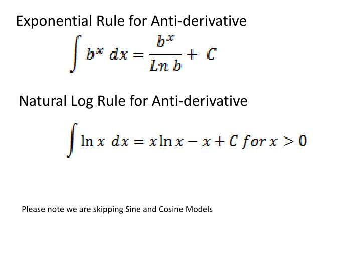 Exponential Rule for Anti-derivative