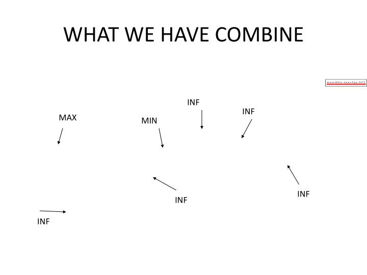 WHAT WE HAVE COMBINE