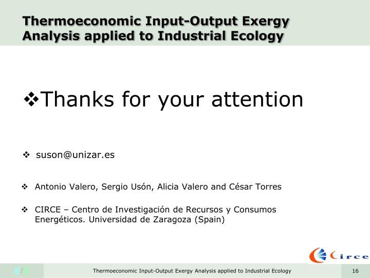 Thermoeconomic