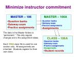 minimize instructor commitment