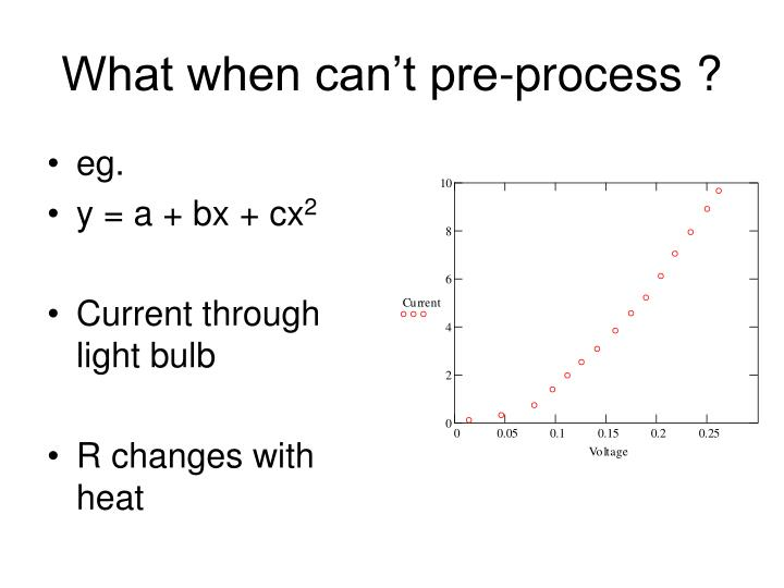 What when can't pre-process ?