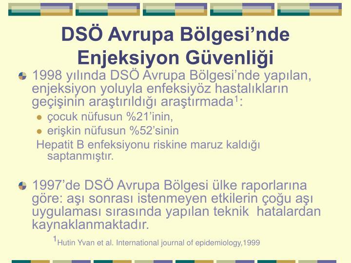 DSÖ Avrupa Bölgesi'nde