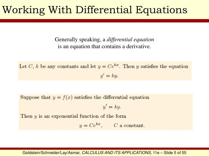 Working With Differential Equations