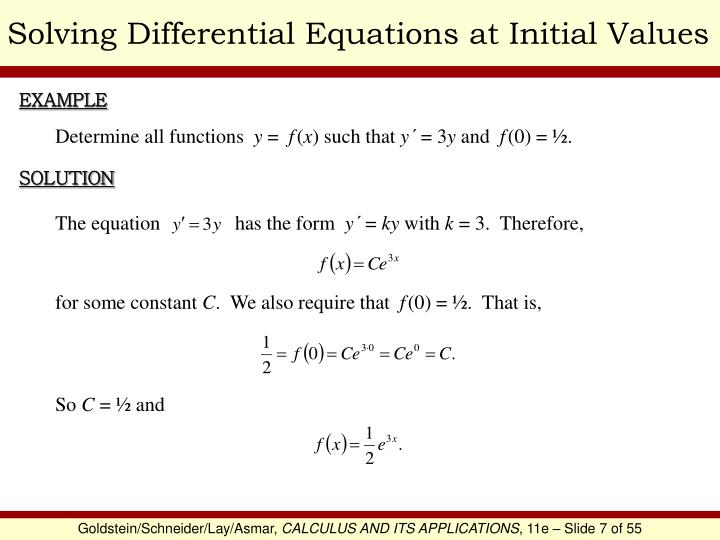 Solving Differential Equations at Initial Values