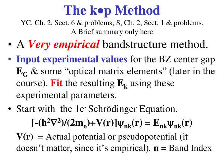 The kp Method