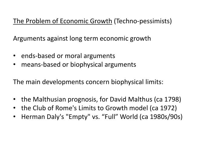 The Problem of Economic Growth