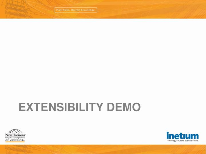 Extensibility Demo