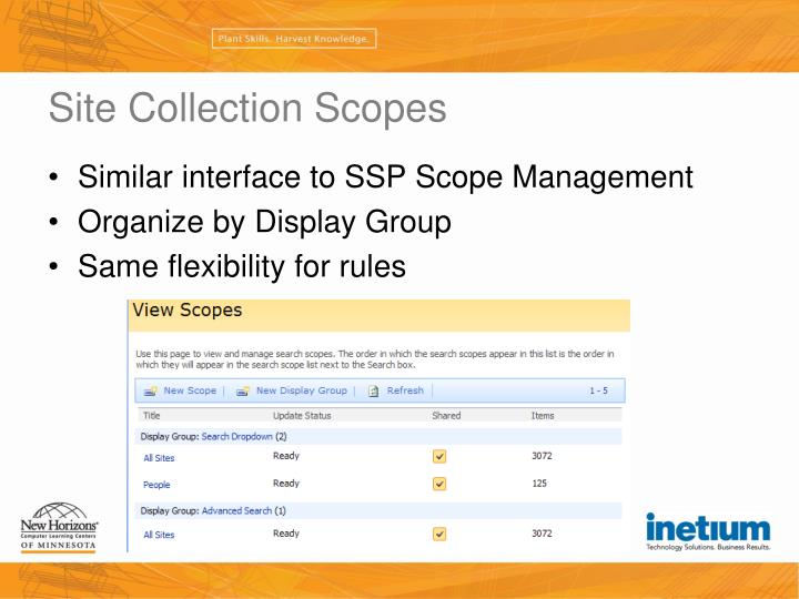 Site Collection Scopes