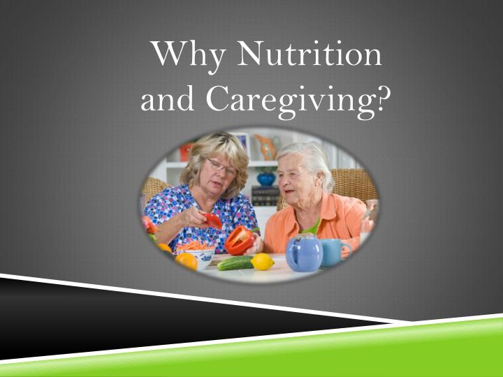 Why Nutrition and
