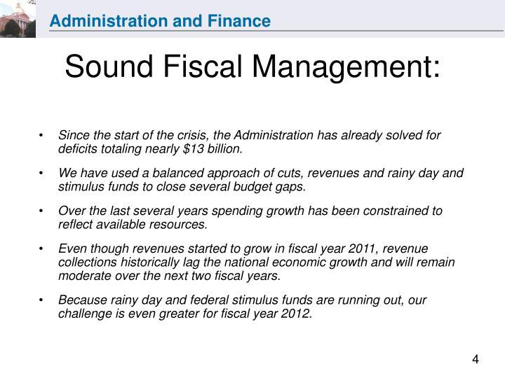 Sound Fiscal Management: