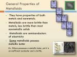 general properties of metalloids