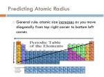 predicting atomic radius