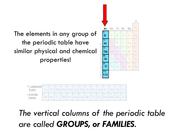 The elements in any group of the