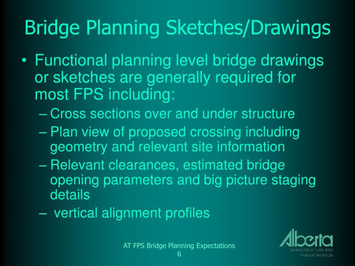 Bridge Planning Sketches/Drawings
