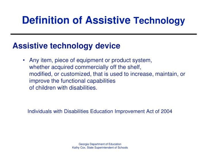 Definition of Assistive