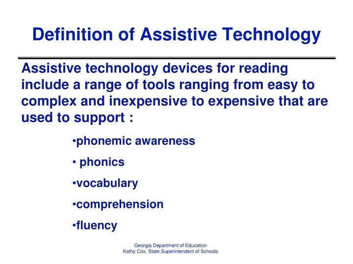 Definition of Assistive Technology
