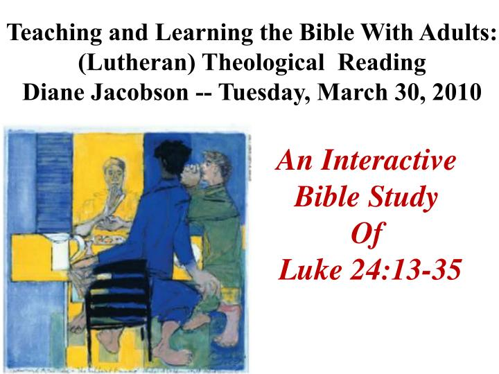 Teaching and Learning the Bible With Adults: