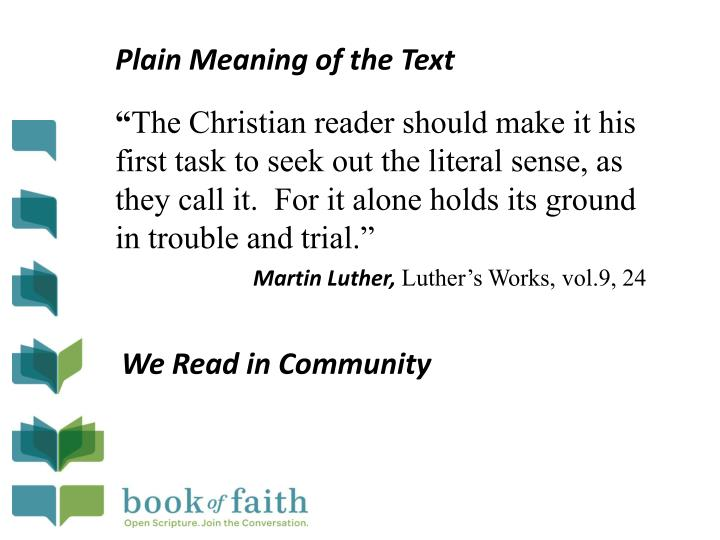 Plain Meaning of the Text