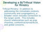 developing a bi trifocal vision for ministry1