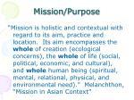 mission purpose