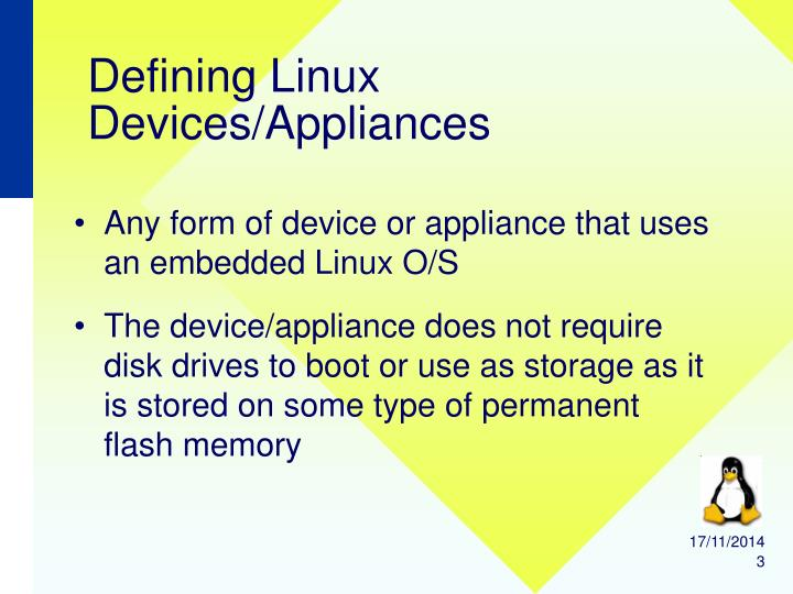 Defining Linux Devices/Appliances
