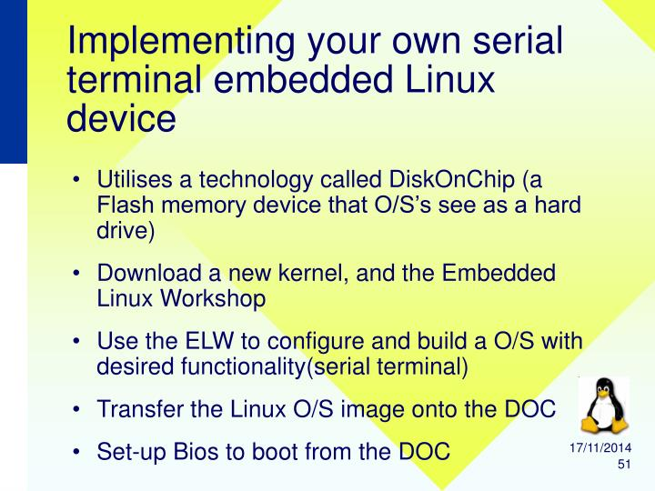 Implementing your own serial terminal embedded Linux device