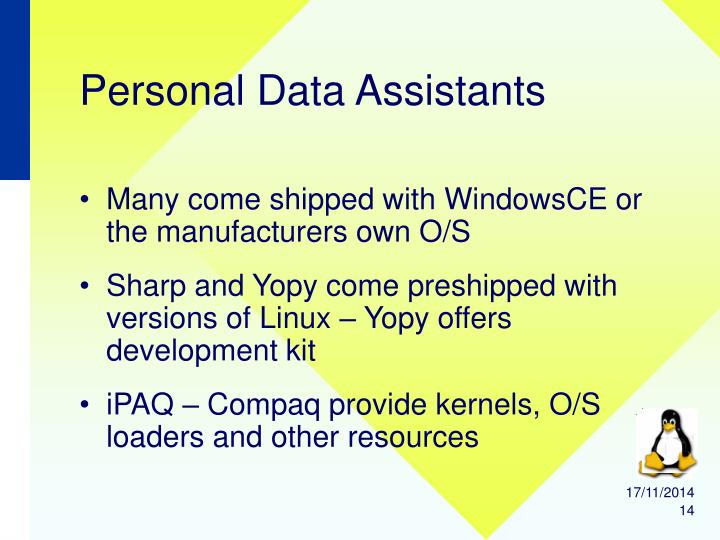 Personal Data Assistants