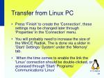 transfer from linux pc1