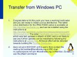 transfer from windows pc11