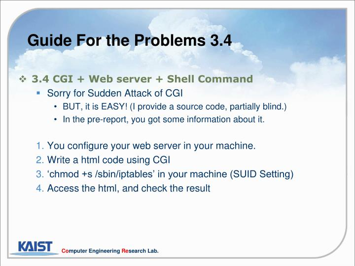 Guide For the Problems 3.4