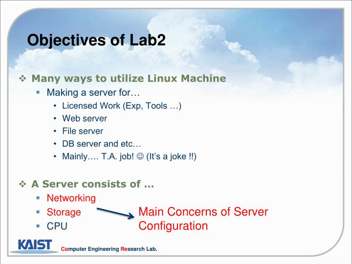 Objectives of Lab2