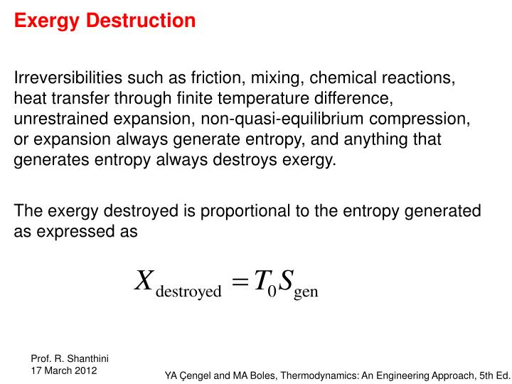 Exergy Destruction