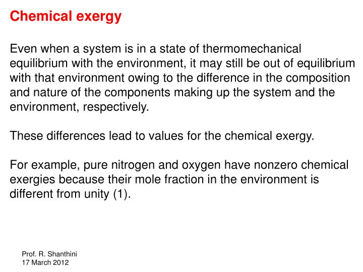 Chemical exergy